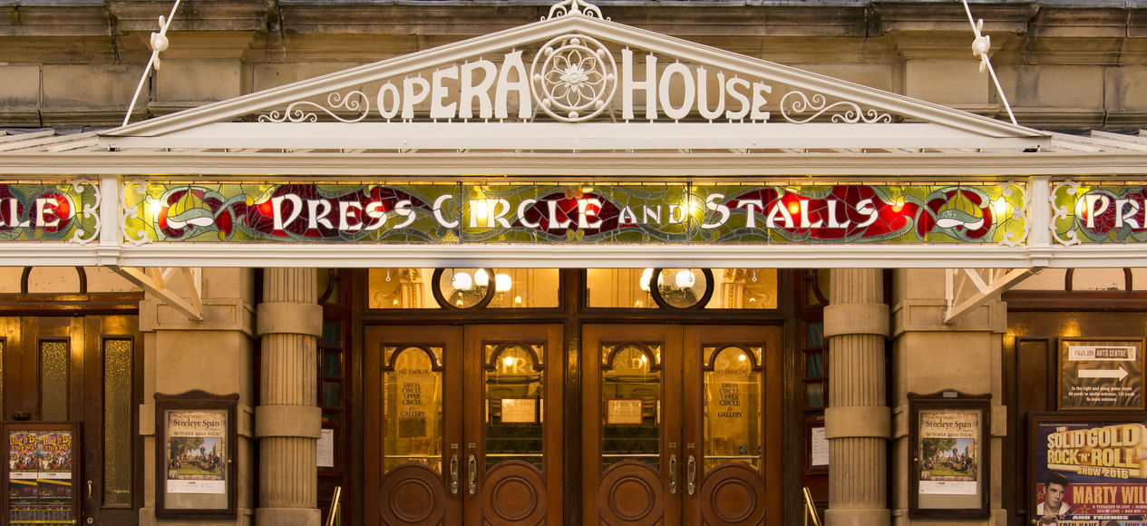 The Buxton Opera House front doors